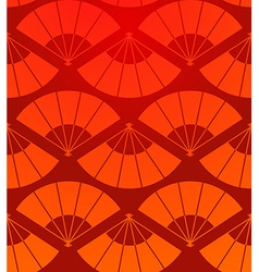Orient fan seamless pattern vector image vector image
