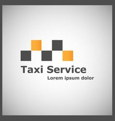 taxi service logotype vector image