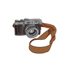 Vintage Camera Drawing Isolated vector image