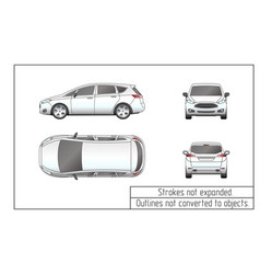 car van drawing outlines not converted to objects vector image vector image