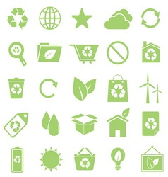 Ecology icons on white background vector image