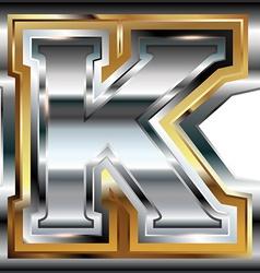 Fancy font Letter K vector image vector image
