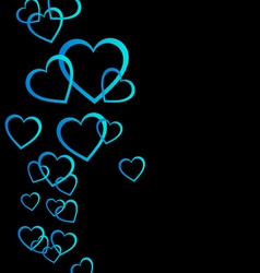 Floating blue hearts background vector