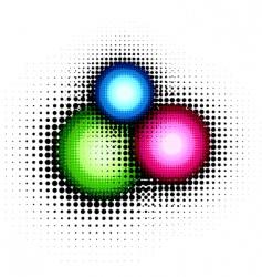 halftone button vector image