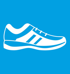 men sneakers icon white vector image vector image