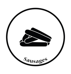 Sausages icon vector image vector image