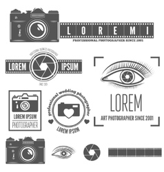 Set of badge emblem label and elements for vector image vector image