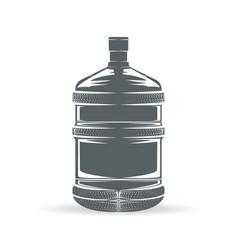Water bottle monochrome vector