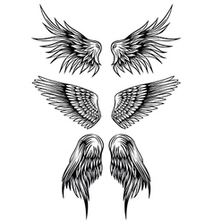 wings set 7 vector image vector image