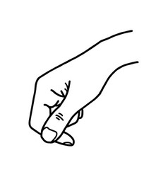 hand holding blank space - sketch vector image vector image