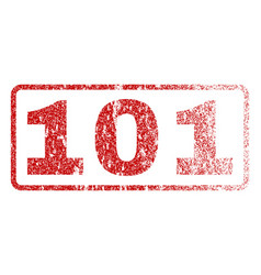 101 rubber stamp vector image
