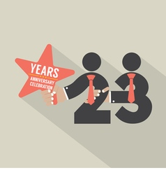 23 Years Anniversary Typography Design vector