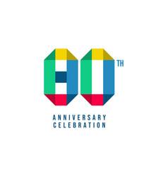 80 th anniversary celebration template design vector