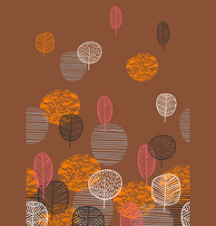 Abstract autumn seamless pattern with trees vector