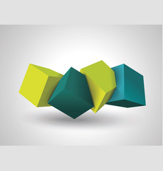 abstract composition of 3d cubes vector image