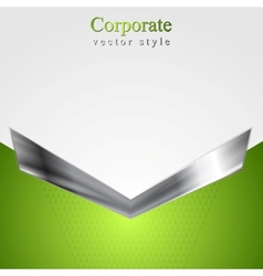 Abstract corporate background with metallic arrow vector image