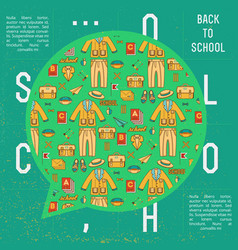 Back to school cloud talk background vector