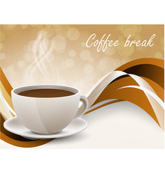 Background with coffe cup vector image