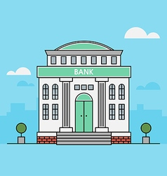 Bank Finance Building vector