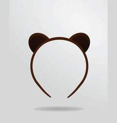 bear mask vector image