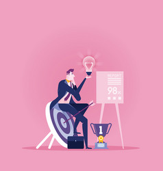 brainstorming businessman create idea vector image