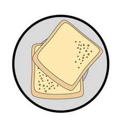 bread wheat food vector image
