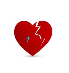 Broken heart 2 vector
