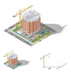 building house pouring a reinforced concrete vector image