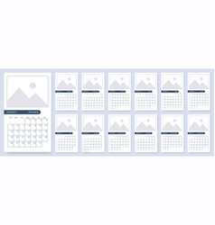 calendar 2020 template planner new year vector image