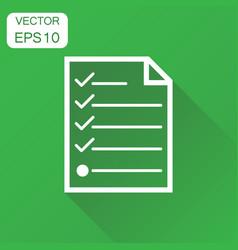 Checklist icon business concept checklist diagram vector
