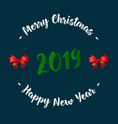 christmas and new year card with fir branches vector image