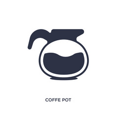 Coffe pot icon on white background simple element vector
