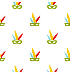 Colorful carnival mask pattern seamless vector
