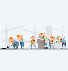 Construction workers and superiors vector