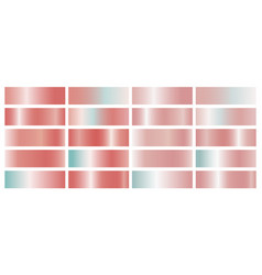 coral color gradient on white background vector image