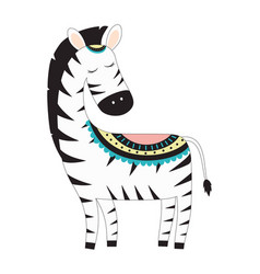 cute zebra isolated vector image