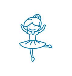Dance club linear icon concept dance club line vector