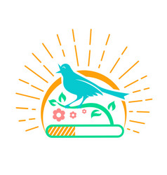 Downloads singing bird vector
