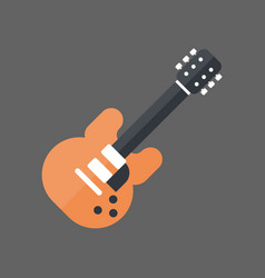 electric guitar icon music instrument concept vector image