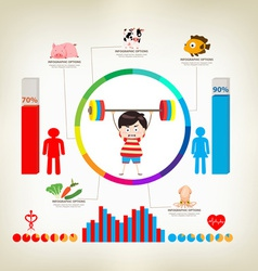 Exercise infographics elements vector