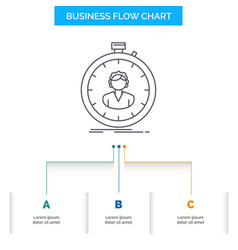 Fast speed stopwatch timer girl business flow vector