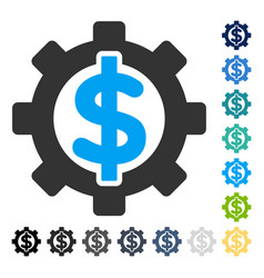 Financial options icon vector