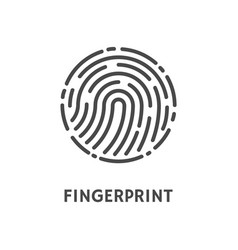 Fingerprint rounded shape of print poster vector