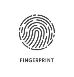 Fingerprint rounded shape print poster vector