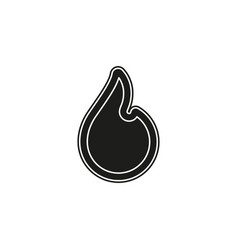 Fire flame fire sign - hot burn symbol isolated vector