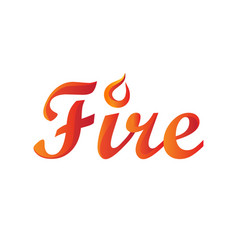 fire word in gradient vector image