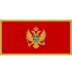 Flag of Montenegro in correct size colors vector image