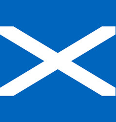 Flag of scotland in national colors vector
