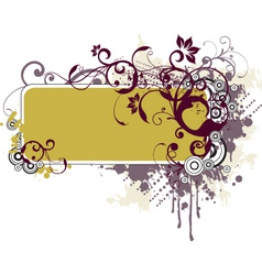 floral grunge frame vector image
