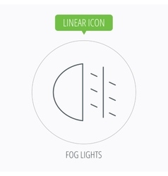 Fog lights icon Car beam sign vector image